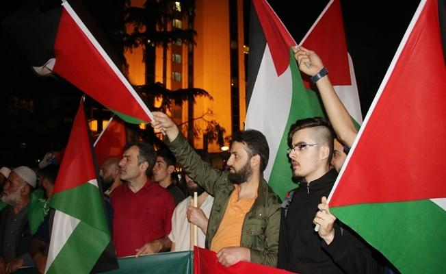 İsrail Konsolosluğu önünde eylem