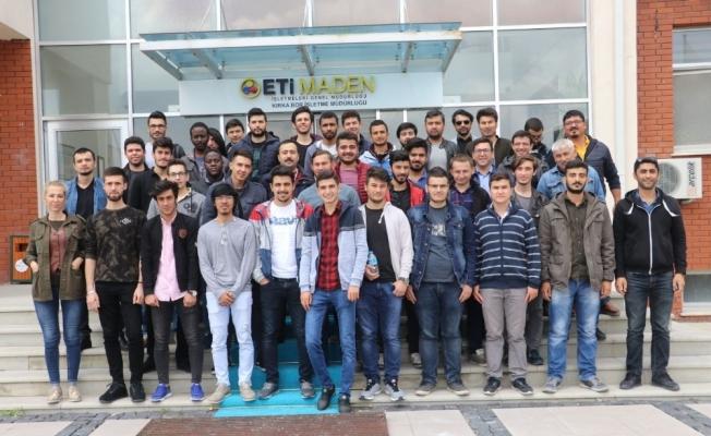KYK öğrencilerinden bor fabrikasına ziyaret