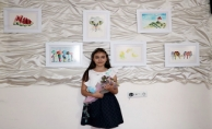 Sivas'ta yaşayan 9 yaşındaki küçük ressam ilk kişisel resim sergisini açtı