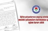 Türk Eğitim Sen'den Sonra Eğitim Bir Sen de Eylem Kararı Aldı