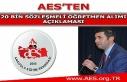AES'ten 20 Bin Sözleşmeli Öğretmen Alımı Açıklaması