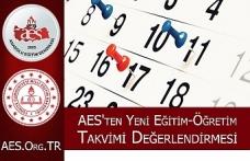 AES' ten Yeni Eğitim-Öğretim Takvimi Değerlendirmesi