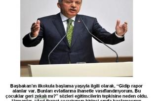 VELİLER VE EĞİTİMCİLER BAŞBAKANIN SÖZLERİNE...