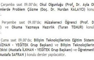 ÖĞRETMEN EĞİTİM PROĞRAMI VE SEMİNER VİDEOLARI...