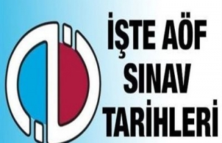 2013-2014 AÖF SINAV TARİHLERİ