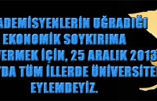 TÜRK EĞİTİM SEN 25 ARALIK'TA ÜNİVERSİTELERDE...