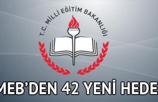 MEB'DEN 42 YENİ HEDEF