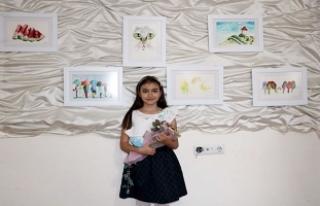 Sivas'ta yaşayan 9 yaşındaki küçük ressam...