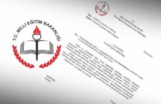 MEB e-devlet'ten alınan belgelerin kabulünü...