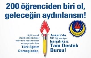 Türk Eğitim Derneği'nden 200 öğrenciye TAM...