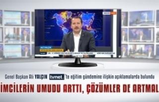 Genel Başkan Ali Yalçın: Öğretmenlerin Aile Bütünlüğü...