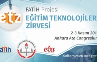 Fatih Projesi Eğitim Teknolojileri Zirvesi 2-3 Kasım'da...