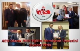 AES Olarak Milli Eğitim Komisyon Üyelerine Dosyamızı...