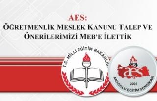 AES: Öğretmenlik Meslek Kanunu Talep ve Önerilerimizi...