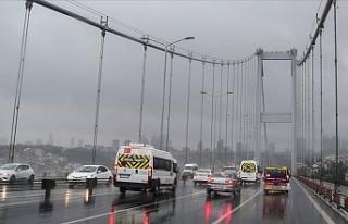 İstanbul'da Etkili Olan Yağış Ulaşımı...