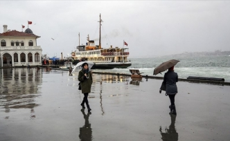 Yağışlı Hava İstanbul'u Yarın Terk Edecek
