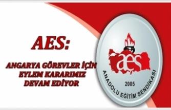 AES: Angarya Görevler İçin Eylem Kararımız Devam Ediyor