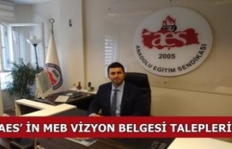 AES'in MEB Vizyon Belgesi Talepleri