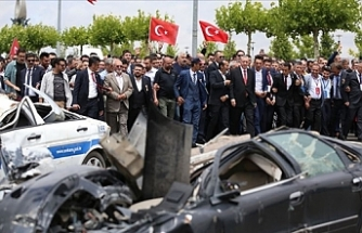 15 Temmuz'da Bombalarla Hasar Gören Araçlar
