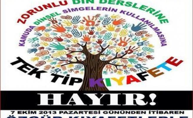EĞİTİM-SEN ÜYELERİ, ÖZGÜR KIYAFETLE İŞYERLERİNE GİDECEK