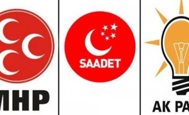 MHP BİRİNCİ,BDP İKİNCİ, SAADET, AKP'Yİ GEÇTİ.