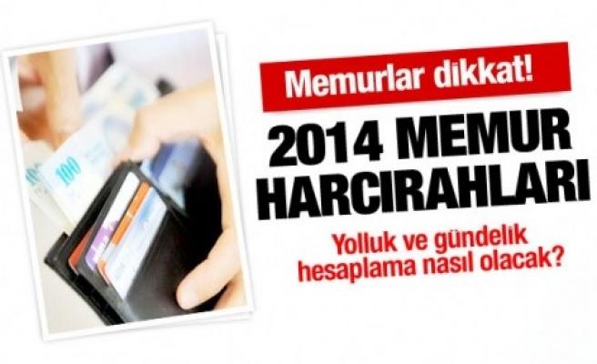 2014 MEMUR HARCIRAH YOLLUK VE GÜNDELİKLERİ