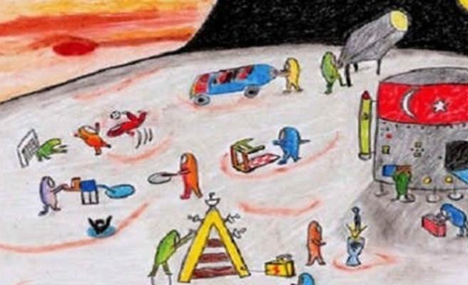 Uzaydaki Evim konulu poster yarışması