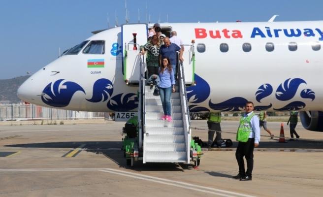 Azerbaycan'dan Gazipaşa'ya ilk uçuş