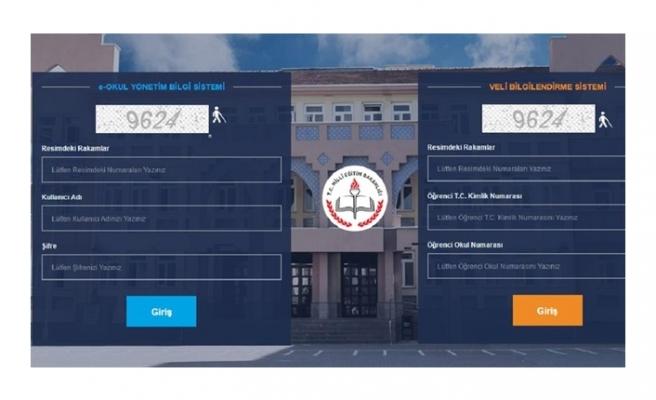 2018 E-Okul Veli Bilgilendirme Sistemi Giriş Ekranı