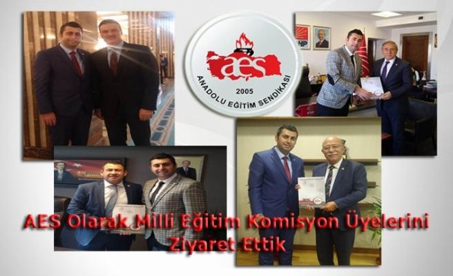 AES Olarak Milli Eğitim Komisyon Üyelerine Dosyamızı İlettik
