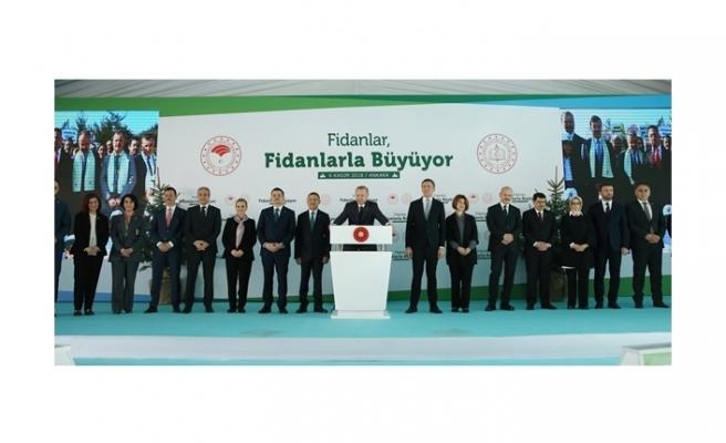 Cumhurbaşkanı Erdoğan: Her Öğrencimize Bir Fidan