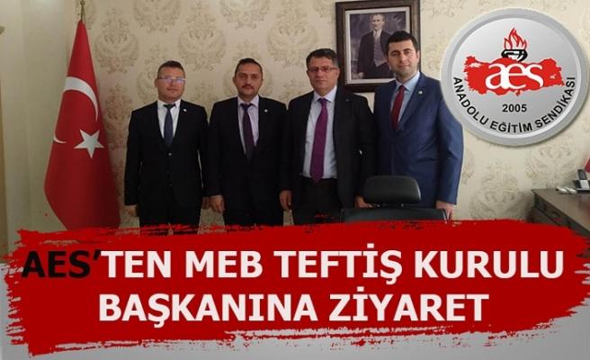 AES'ten MEB TEFTİŞ Kurulu Başkanına Ziyaret