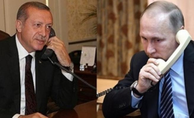 Cumhurbaşkanı Erdoğan, Putin İle Telefonda Görüşmesi Gerçekleştirdi