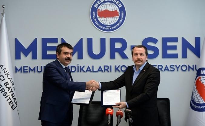 Memur-Sen ve Hacı Bayram Veli Üniversitesi, Eğitim İşbirliği Protokolü İmzaladı