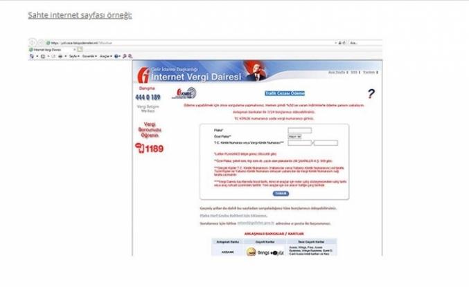 Gelir İdaresi Başkanlığı, Başkanlığın Adı Kullanılarak Trafik Para Cezasına Sahte E-Postalara Dair Vatandaşlara Uyarı