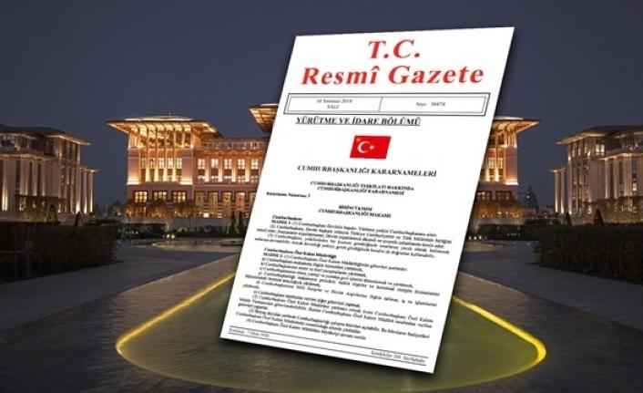 Resmi Gazete'de Yeni Cumhurbaşkanlığı Kararnamesi Yayımlandı