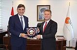 Kosova Kamu Yönetim Bakanı Mahir Yağcılar ÖSYM Başkanı Halis Aygün'ü Makamında Ziyaret Etti