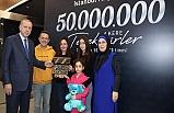Cumhurbaşkanı Erdoğan 50 Milyonuncu Yolcuya Plaket Verdi
