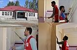 Kızılay Gönüllüleri Köy Okulunu Boyayarak, Yüz Yüze Eğitime Hazırladı