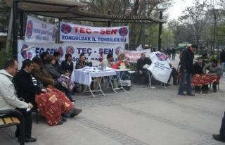 """TEÇ-SEN: """"Eğitim Çalışanları Açlık Grevine..."""