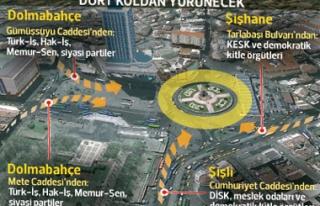 1 Mayıs'ta 1 milyonla Taksim'e