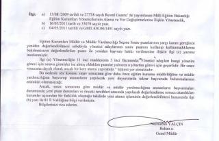 Müdür ve Müdür Yardımcılığı Sınav Tarihi...