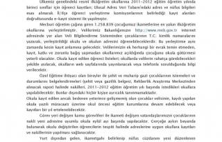 2011-2012 EĞİTİM ÖĞRETİM YILI E-KAYIT UYGULAMASI...