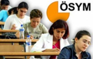 ÖSYM, 2012 yılı sınav takvimini açıkladı