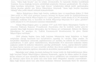 MEB'den Mahkeme Harcı Ve Masraflarının Ödenmesi...