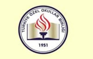 Türkiye Özel Okullar Birliği Derneği'nden 'en...