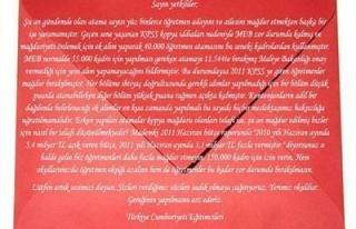 Öğretmenlerden Kırmızı Zarf Eylemi !