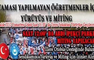 TÜRK EĞİTİM-SEN, ATAMASI YAPILMAYAN ÖĞRETMENLER...
