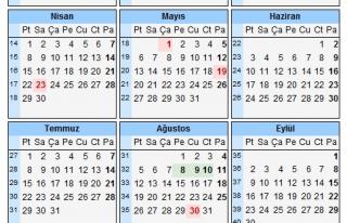 2013 YILINDA RESMİ TATİL GÜNLERİ BELLİ OLDU !