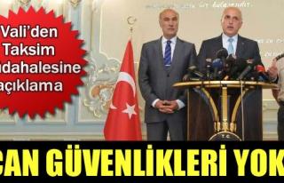 MÜDAHALEMİZ GEZİ PARKI'NA DEĞİLDİR...